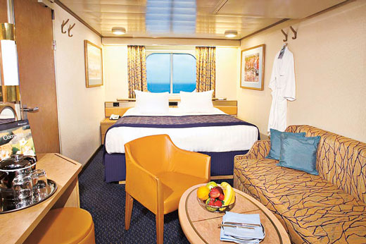 Large Ocean-view Stateroom (Obstructed View)