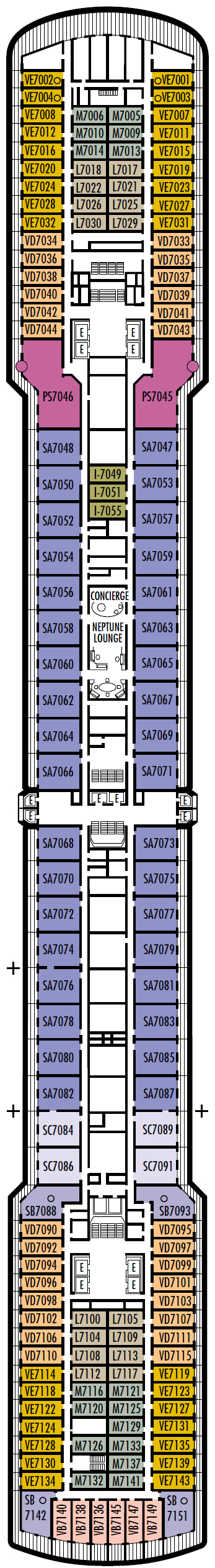 Ms Oosterdam Deck Plans Cruisekings