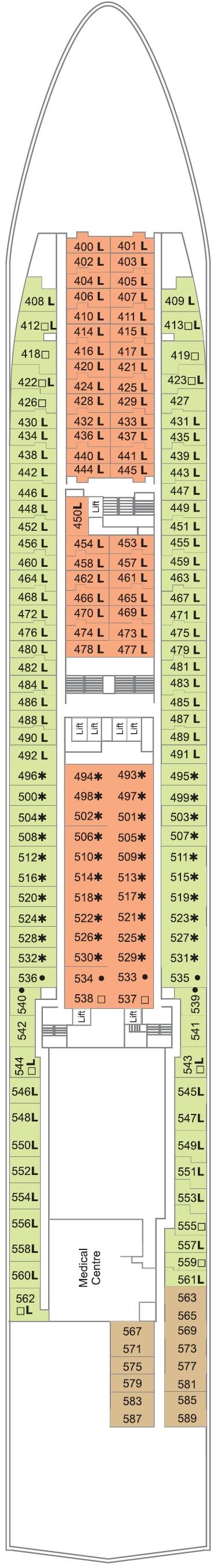 Deck Plan for Deck 3
