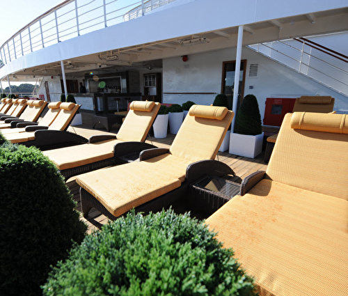 Sun Lounges on Pool Deck
