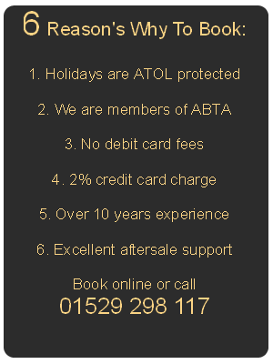 6 reason's to book with us