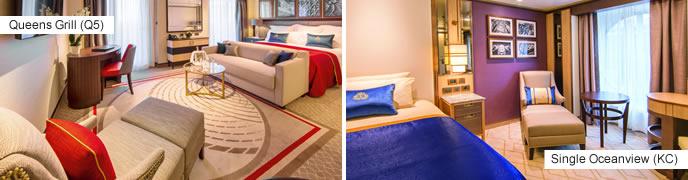 Cunard Cruises - new accommodation