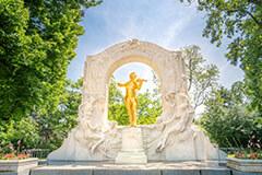 Johann Strauss Golden Statue in Vienna, Austria