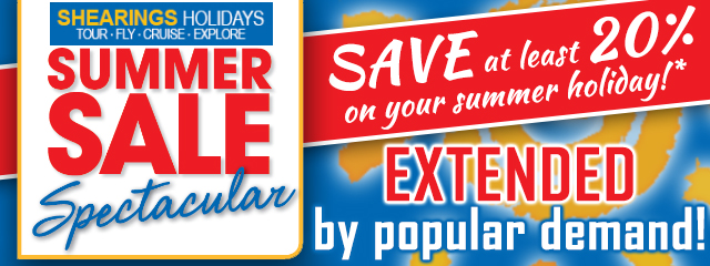 Shearings Summer Sale! Save at least 20% on your summer holiday!