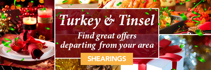 Shearings Holidays - Turkey nd Tinsel Offers