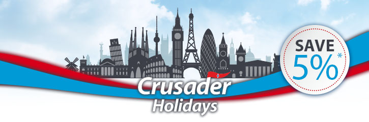 Crusader Holidays Top 10 - Save 10%