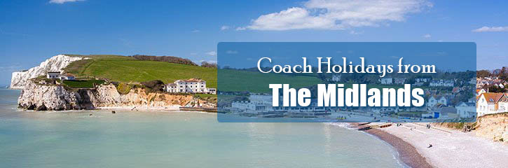 Great value Shearings coach holidays from the Midlands