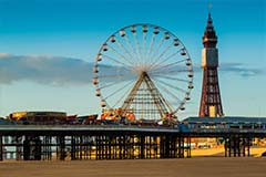 Blackpool wheel and tower