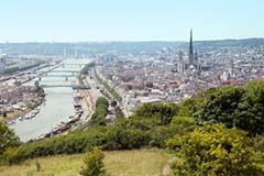 Rouen on river Seine