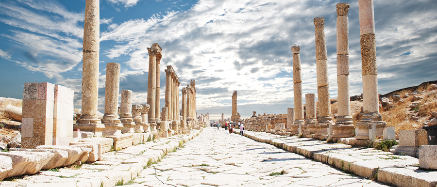 The Ancient Ruins of Jerash, Jordan