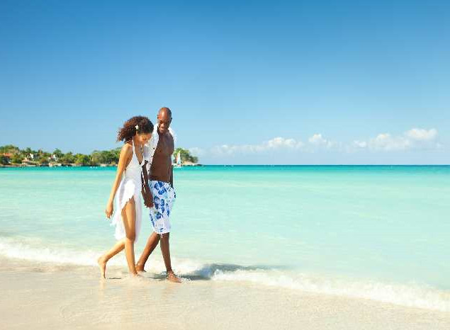 Couple on Negril beach