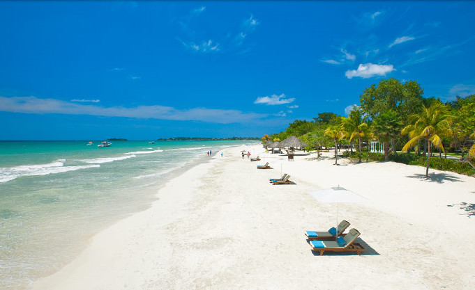 "Negril beach"" title="