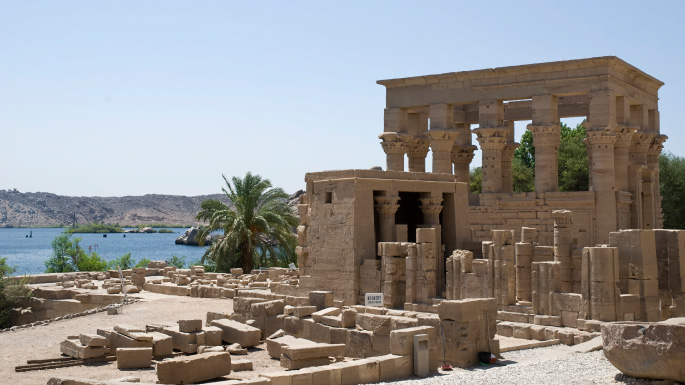 Egypt and Red Sea cruises; ancient temple