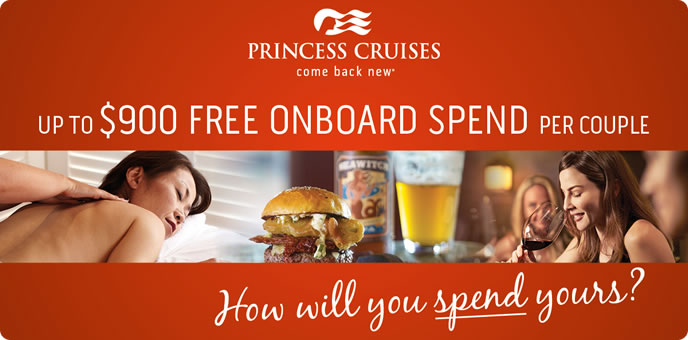 Princess Cruises - On board credit Sale
