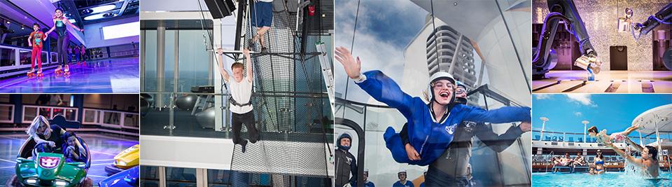 SeaPlex, Dodgem, Circus skills, RipCord by iFly, Bionic Bar