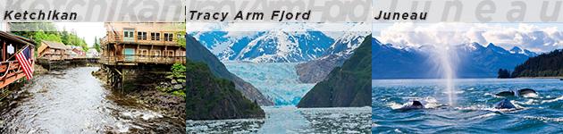 Ketchikan, Tracy Arm Fjord & Juneau