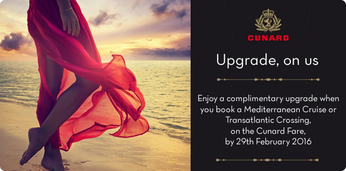 Cunard Cruises 2016 Ultimate Upgrade