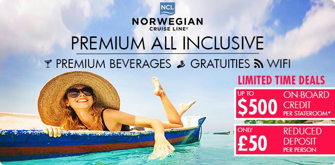 Norwegian Cruise Line $500 OBC + £50 deposit