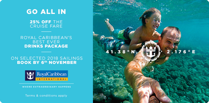 Royal Caribbean - Free Drinks & 25% off