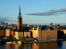 Stockholm Riddarholmen church near the Old Town