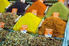 Spices & tea in Istanbul's Grand Bazaar