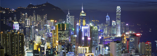 Hong Kong nocturna