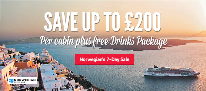 Norwegian | Save up to £200 | Plus free Drinks Package