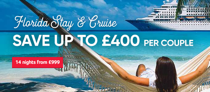 Generic | Florida Stay & Cruise Save up to £400 per couple  | 14 nights from £999