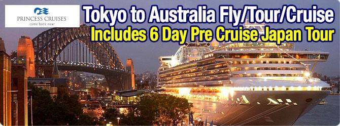 Diamond Princess Tokyo to Sydney with Japan Land Tour