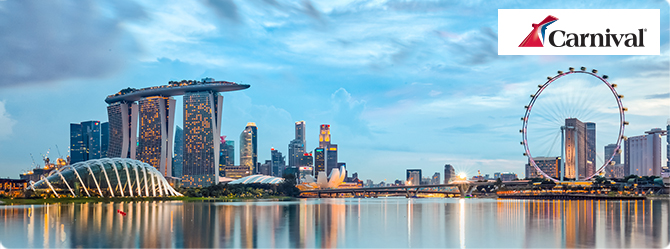 Exclusive prices on Carnival Spirit to Singapore