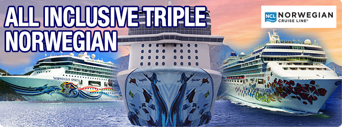 Sail onboard Three Norwegian Cruise Lines ships including the BRAND NEW NORWEGIAN BLISS