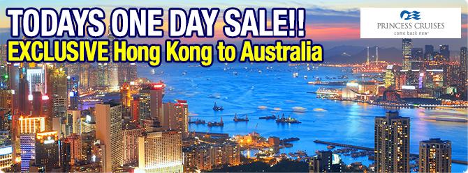 One Day Sale - Sun Princess - Hong Kong to Australia
