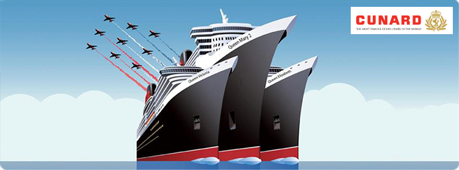 Cruise aboard all three queens