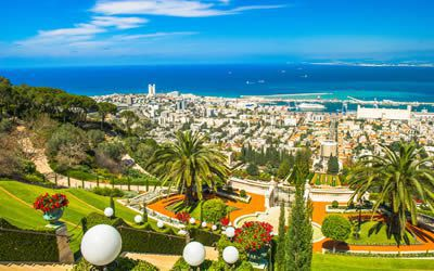 View from the Haifa Gardens