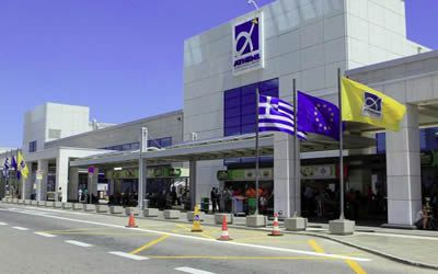 Arrival into Athens Airport