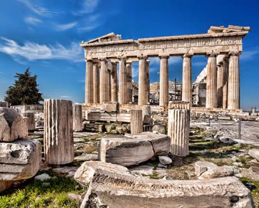 The Parthenon On The Acropolis