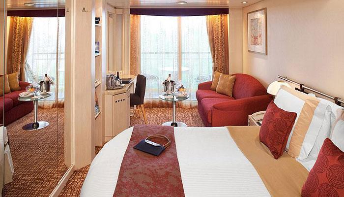 Cruceros Celebrity Cruises, Habitación Concierge Class