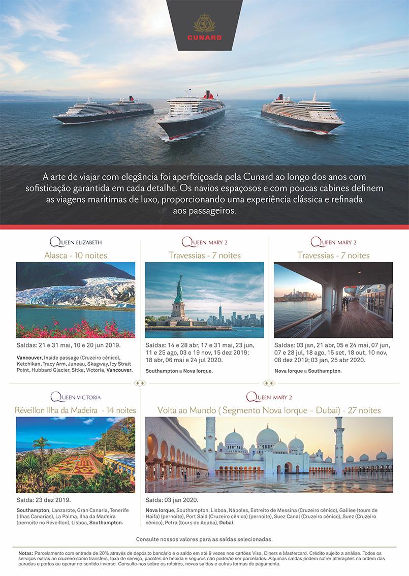 Lâmina Cunard Line 2019 - 2020